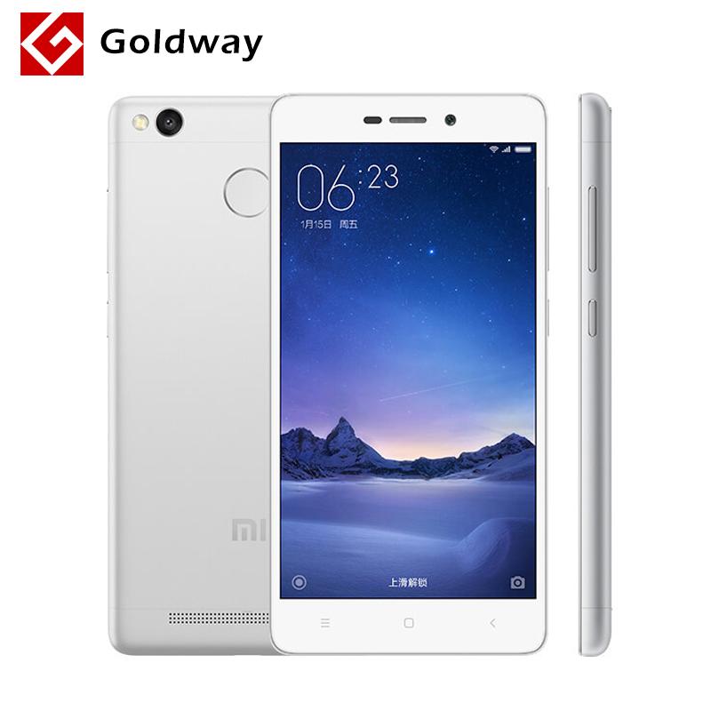 """Original Xiaomi Redmi 3 Pro Prime 32GB ROM Mobile Phone 4100mAh Battery Fingerprint ID Snapdragon 616 3GB RAM 5.0"""" Metal Body(Hong Kong)"""
