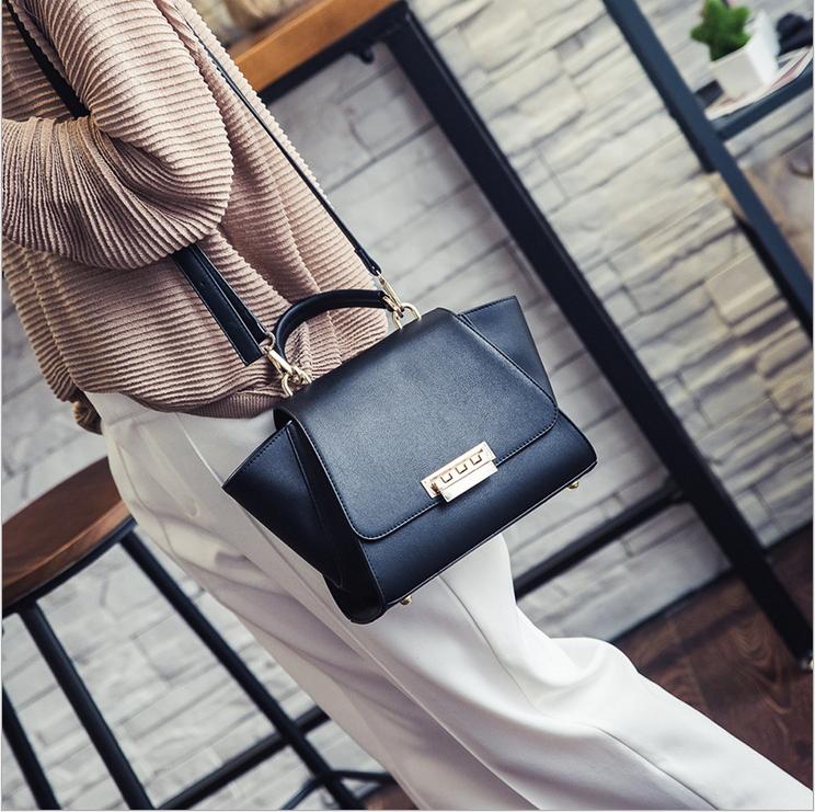 Designer handbags high quality wings bag ladies clutch fashion lock button trapeze bags for wmen's hand bag shoulder messenger(China (Mainland))