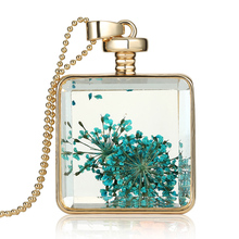 Buy 2016 Hot Mixed Colors Luxury Gold Ball Chain Natural Dried Flower Crystal Pendant Necklace Glass Bottle Vial Jewelry for $1.02 in AliExpress store