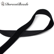 "10 Yards Black 3/8"" Wide Velvet Ribbon (B14627)(China (Mainland))"
