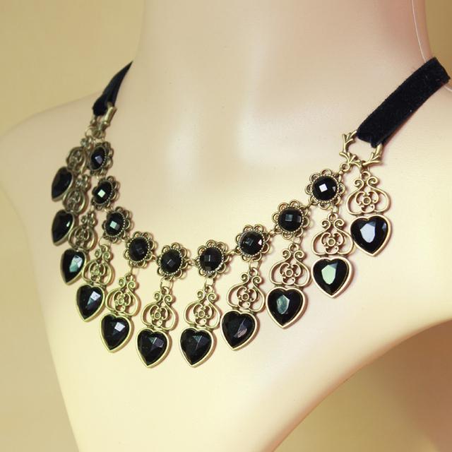 Hecho a mano gótico hecho a mano moda negro vintage lace choker collar joyería de las mujeres accesorios gy108 para las mujeres