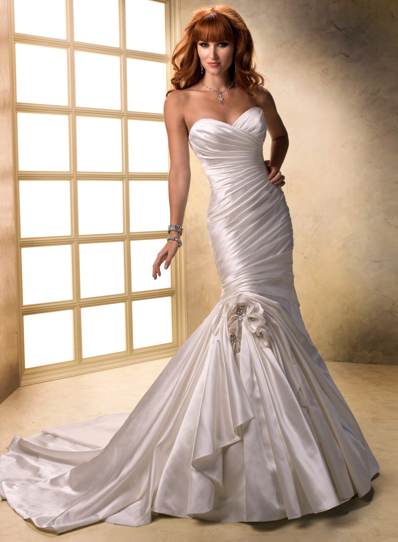 Buy ce31 2015 cheap wedding dress for Satin sweetheart mermaid wedding dress