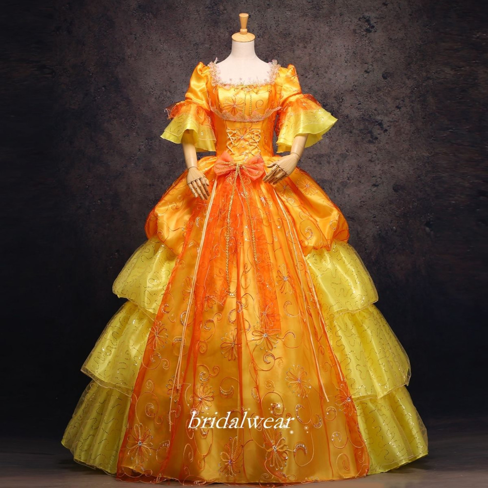 Gold 18th Century Rococo Baroque Cosplay Costume Marie Antoinette Gown DressesОдежда и ак�е��уары<br><br><br>Aliexpress