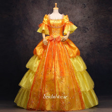 Gold 18th Century Rococo Baroque Cosplay Costume Marie Antoinette Gown Dresses