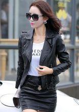 2016 New women's fashion jacket slim leather jackets suit coat clothes  519(China (Mainland))