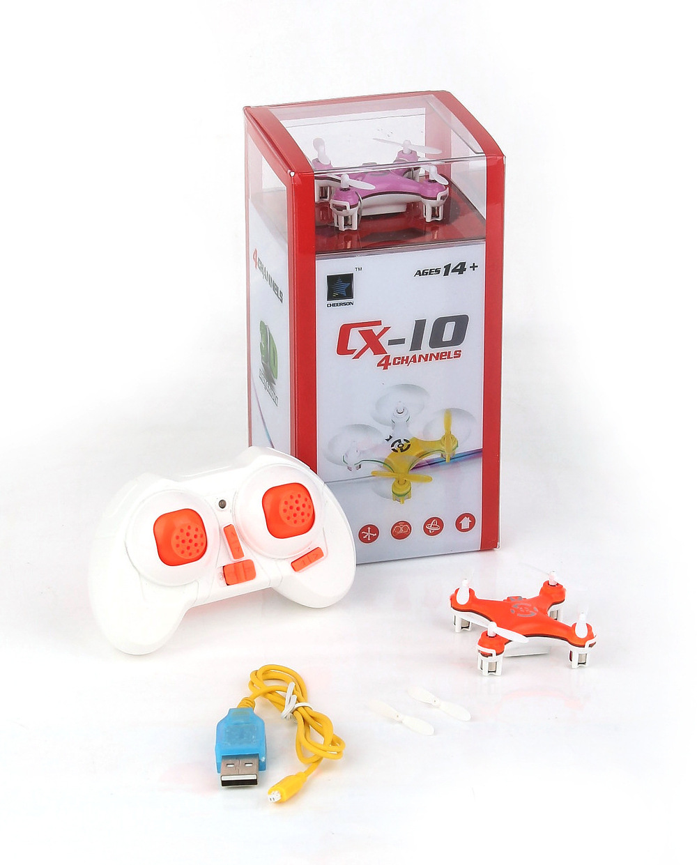 UKShip Cheerson CX 10 CX10 2 4G Remote Control Toys 4CH 6Axis RC Quadcopter Mini rc