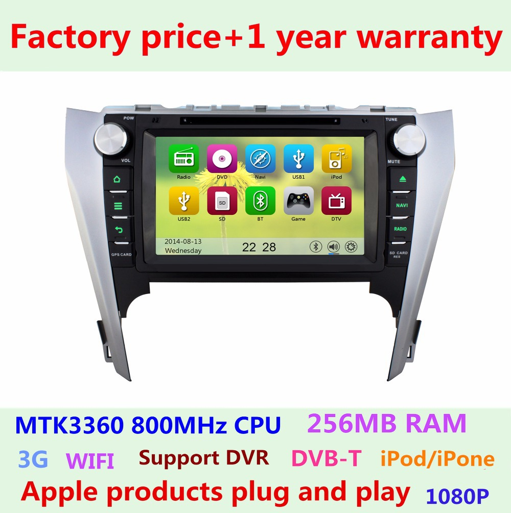Factory Price Toyota Camry 2012 2011 2014 Touch screen Car DVD Player GPS Navigation system Bluetooth Stereo Radio USB IPOD(China (Mainland))