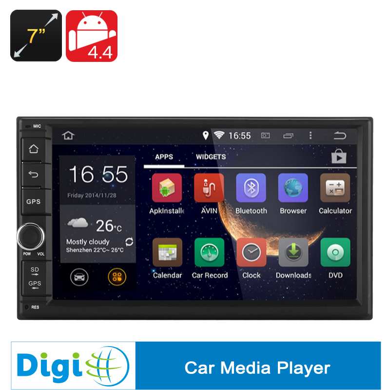 New 7 Inch Android 4.4 Car Media Player 2DIN Fitting RK3066 1.6GHz CPU Bluetooth Wi-Fi GPS 1GB RAM 3G(China (Mainland))