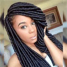 New Soft African American Women Dread Lock Hair Faux Locs Crochet Black Dreadlocks Hair 18inch Havana Mambo Twist Crochet Hair
