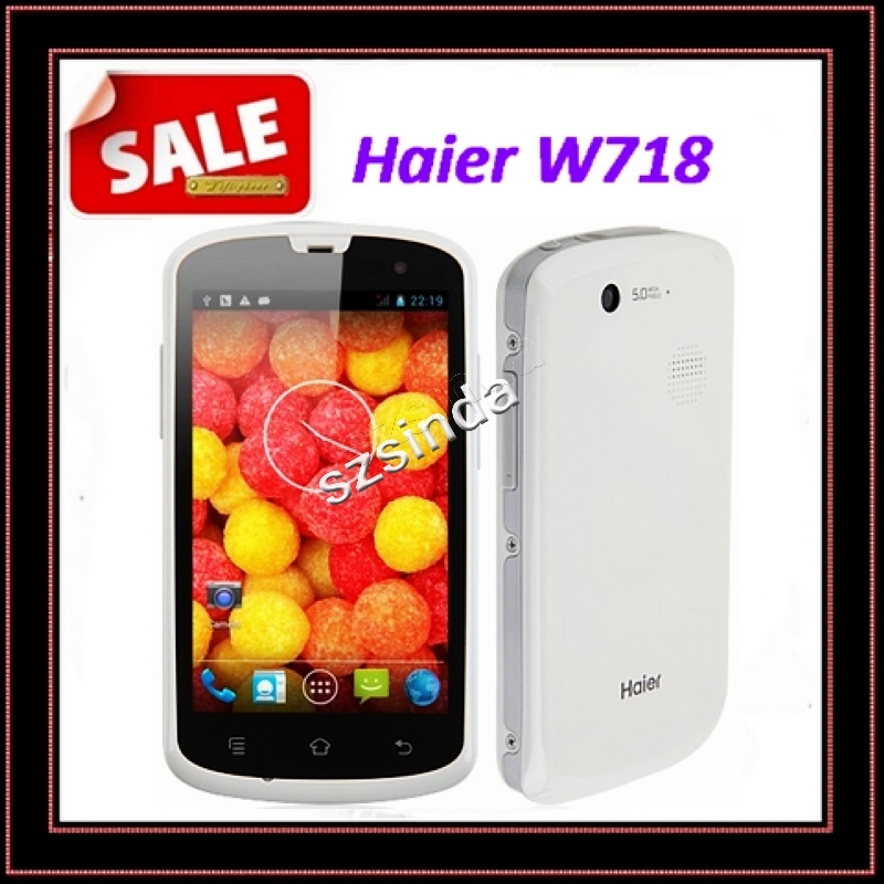 free shipping original Haier W718 IP67 Android 4.2 MTK6572 Dual Core 1.2GHz 4 Inch screen 4GB Rom GPS 3G Cell phone / Anna(Hong Kong)