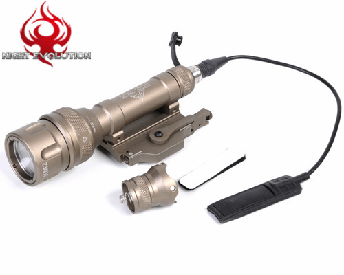 Фотография NIGHT EVOLUTION CREE R2 220 LM Tactical Flashlight Strobe Scoutlight CR123A Outdoor Hunting CS Airsoft LED Torch Weapon Light