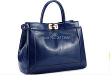 The new leather handbag leather shoulder bag ladies new handbags, fashion  OL bags free shipping(China (Mainland))