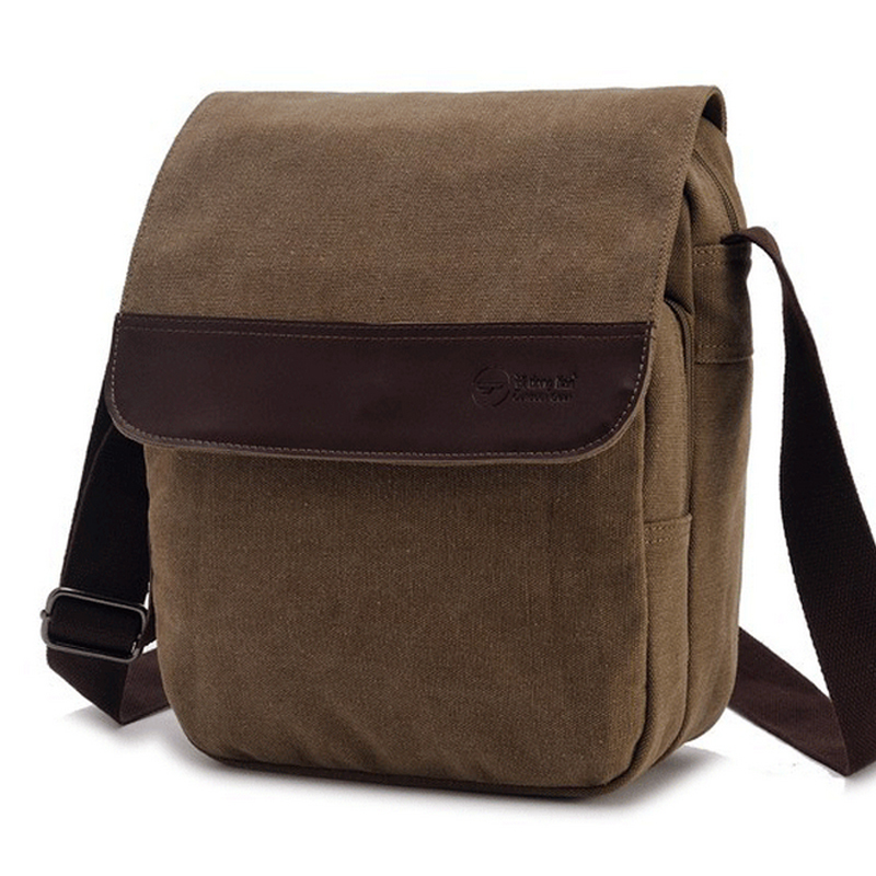 High Quality Men Messenger Bag Solid Zipper Men Canvas Bag bolsas masculinas crossbody bag for men(China (Mainland))