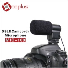 Mini Directional Camera Stereo Microphone Mic-109 for 3.5mm Mic Jack Canon/Nikon/Sony/Pentax DSLR Video cameras & DV Camcorder