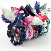 Buy 30 Pcs/lot Mix Fashion Bow Tie Hair Accessory Women Girl Flower Rabbit Ears Polka Dot Hair Rope Elastic Hair Band EKUSTYEE for $3.59 in AliExpress store