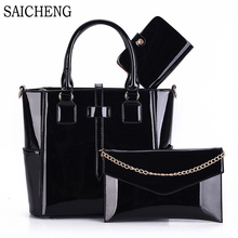 Buy 3 Set Wax Oiled Composite PU Leather Bag Handbags Women Messenger Bags Female Purse Solid Shoulder Bags Office Lady Casual Tote for $30.08 in AliExpress store