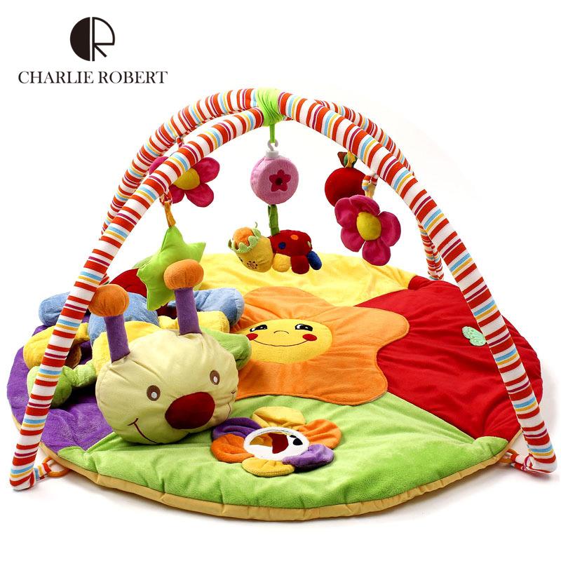 Educational Baby Play Mat Plush Baby Toy Game Tapete 0-2 Years Tapete Infantil Crawling Mat Music Play Gym Blanket Carpet HK869