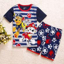 Лапу Собака патруль мальчика комплектов одежды Младенца Устанавливает флис хлопок мальчик спортивные костюмы Дети спортивные костюмы мультфильм пальто/толстовки + брюки(China (Mainland))