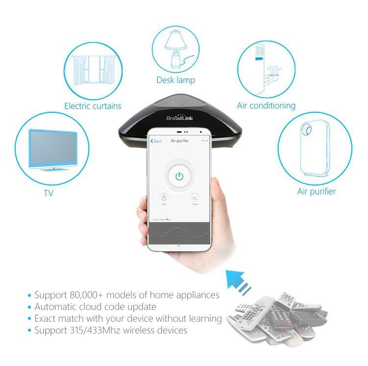 8---Broadlink Remote Control Rm Pro RM2, Smart Home Universal Intelligent Controller,-