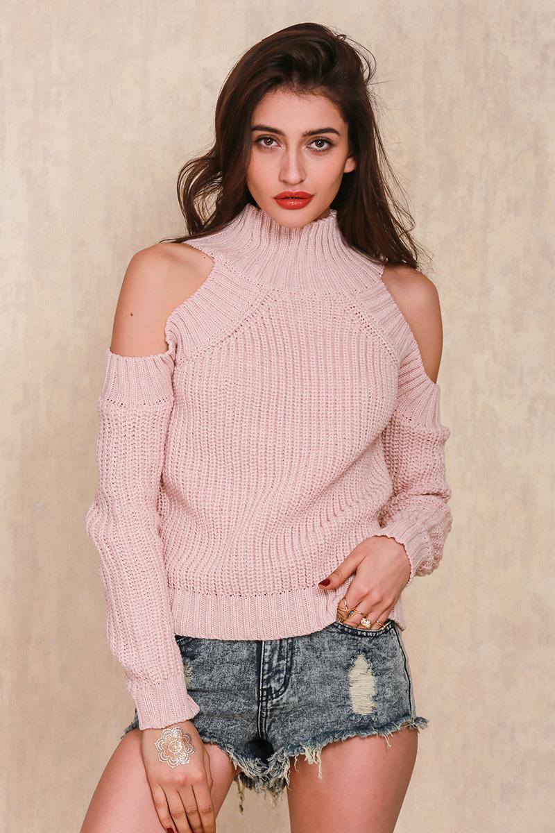 Simplee Одежда водолазка с плеча трикотажные свитера женщины осенняя Мода трикотажные пуловеры перемычки Потяните femme негабаритных накидки