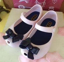 Mini Melissa 2016 rain Shoes For kids New Limited Strap Baby Rubber Cute Bow Sandals girl Bowtie Summer with Fragrance(China (Mainland))