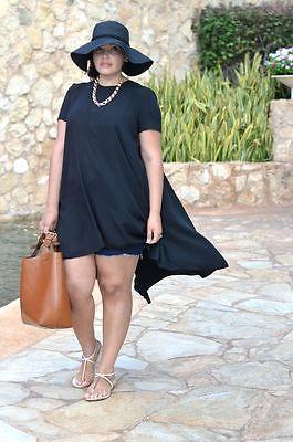 Женщины Лето Повседневный Черный Свободные Коротким Рукавом Шифон Рубашка Топ Плюс Размер Футболки