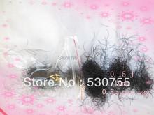 loose eyelash extension single lashes individual lashes extension J curl 0.15(China (Mainland))