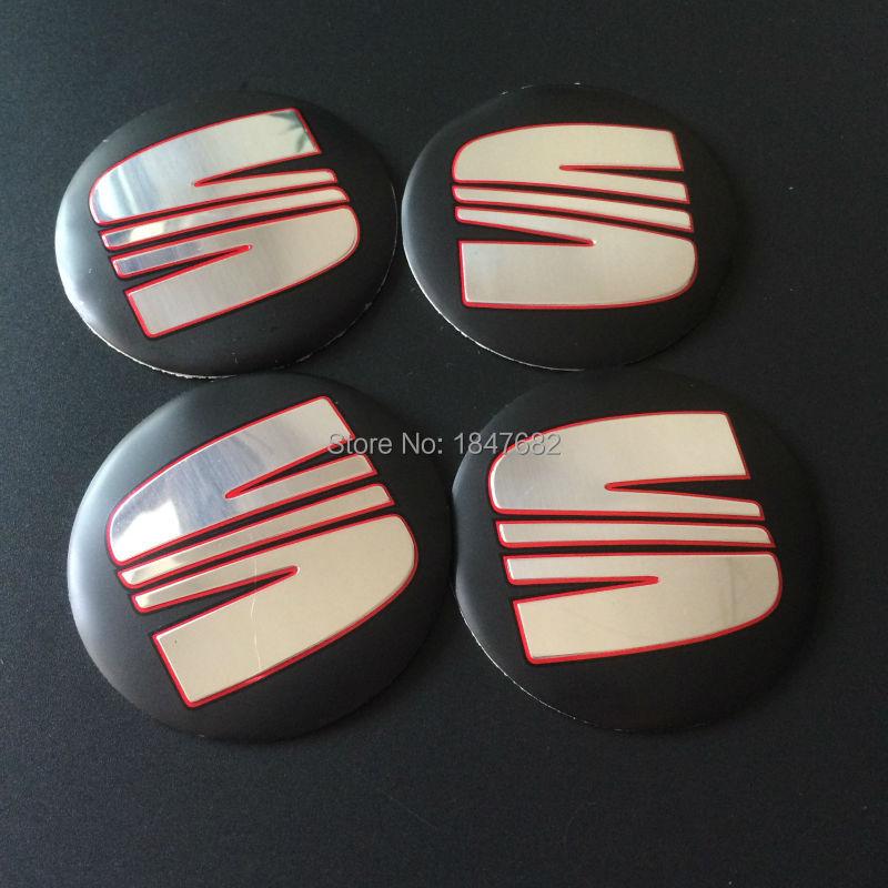 High quality 100PCS aluminum 56.5mm 3D Wheel Center Hub Cap Emblem Badge Stickers SEAT emblem<br><br>Aliexpress