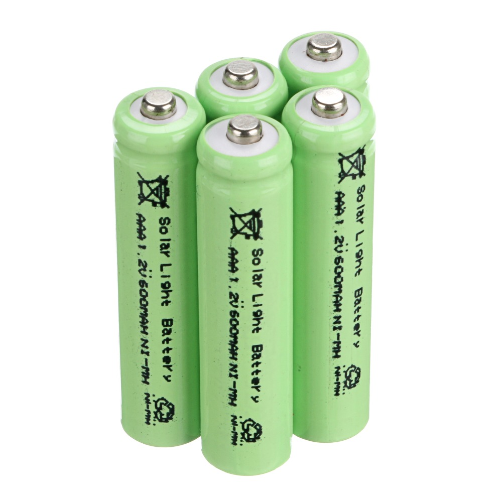 2016 hot sell solar battery! 15 PCS AAA Solar Light Batteries Rechargeable 1.2V 600mAh For Garden Lights(China (Mainland))