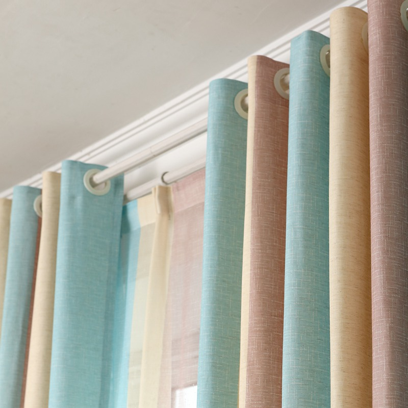 1pc Blue Striped Printed Window Curtains For The Bedroom Fancy Children Modern Curtains