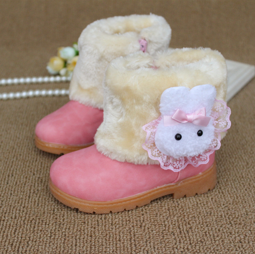 Free shipping super cute princess girls winter boots snow boots Korean(China (Mainland))