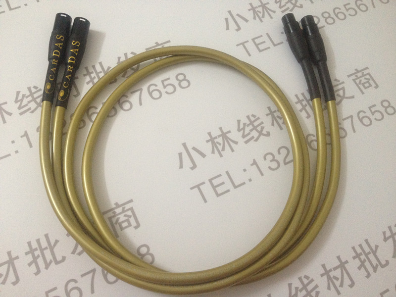 Cardas Hexlink Golden 5-C Gold Plated XLR balanced Interconnect cable pair 1M DIY