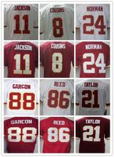 8 Kirk Cousins 11 DeSean Jackson 86 Jordan Reed 24 Josh Norman 46 Alfred Morris 21 Sean Taylor 88 Pierre Garcon elite jerseys(China (Mainland))
