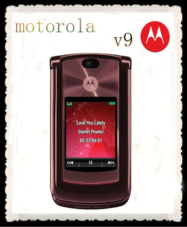 V9 original unlocked Motorola RAZR2 V9 mobile phones have English&Russian Keyboard 950 mAh battery sian Menu 950 mAh battery(China (Mainland))