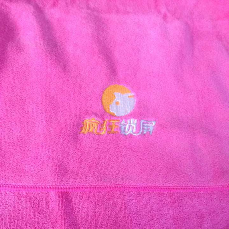 New 2016 Personalized Hand Towel -- Microfiber Embroidery Hair Towel Absorbent Customized Towel Gift Sport Towel(China (Mainland))