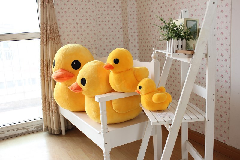 27 inch  yellow duck plush toy doll throw pillow children gift w3948<br><br>Aliexpress