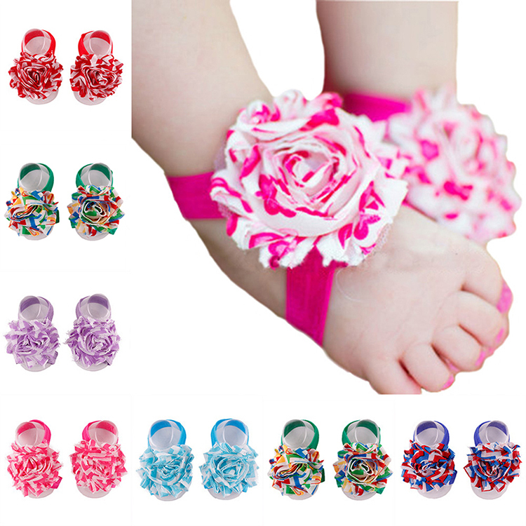 Baby Shoes Toddler Barefoot Foot Flower Sandals for 0 18M