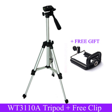 Weifeng WT3110A Tripod Aluminum With 3-Way 350mm-1020mm Universal Camera Tripod for DSLR Camera and for Iphone 6s with Free Clip