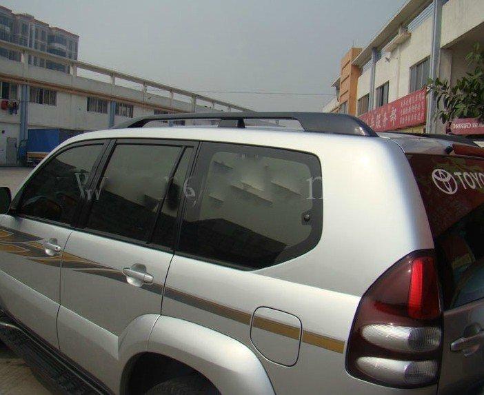 2003 2004 2005 2006 2007 2008 2009 For Toyota Prado Land Cruiser FJ120 Black Roof Rack Side Rail(China (Mainland))