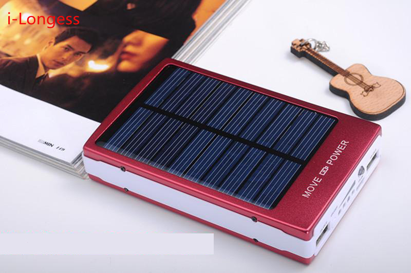 solar powerbank 8000mAh Portable Charger Backup Battery Packs for iphone6 FOR Xiaomi With phone Power bank External Battery(China (Mainland))