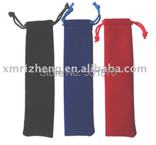 Free shipping--Color drawstring velvet pen pouches(China (Mainland))