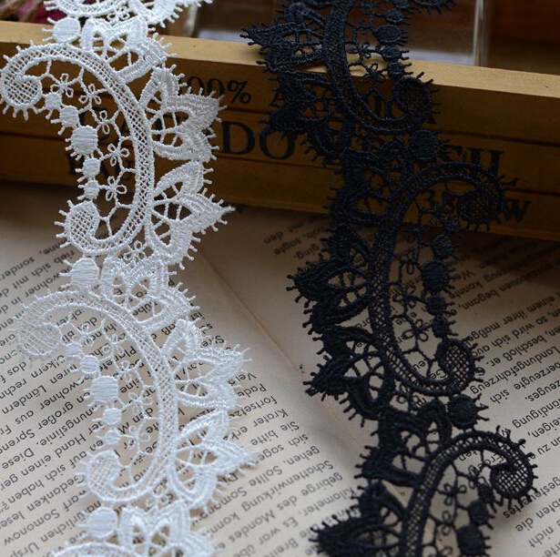 Latest Cord Lace 2015 YYN321 4cm 2 colors Lace Trim DIY Sewing Headband making Wedding 10 yards/lot DIY Lace Fabric()