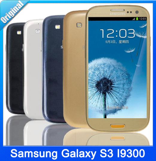 Original Unlocked Samsung Galaxy S3 i9300 3G Network Quad Core 4.8 inch 8MP Camera WiFi GPS Refurbished Smartphone Free Shipping(China (Mainland))