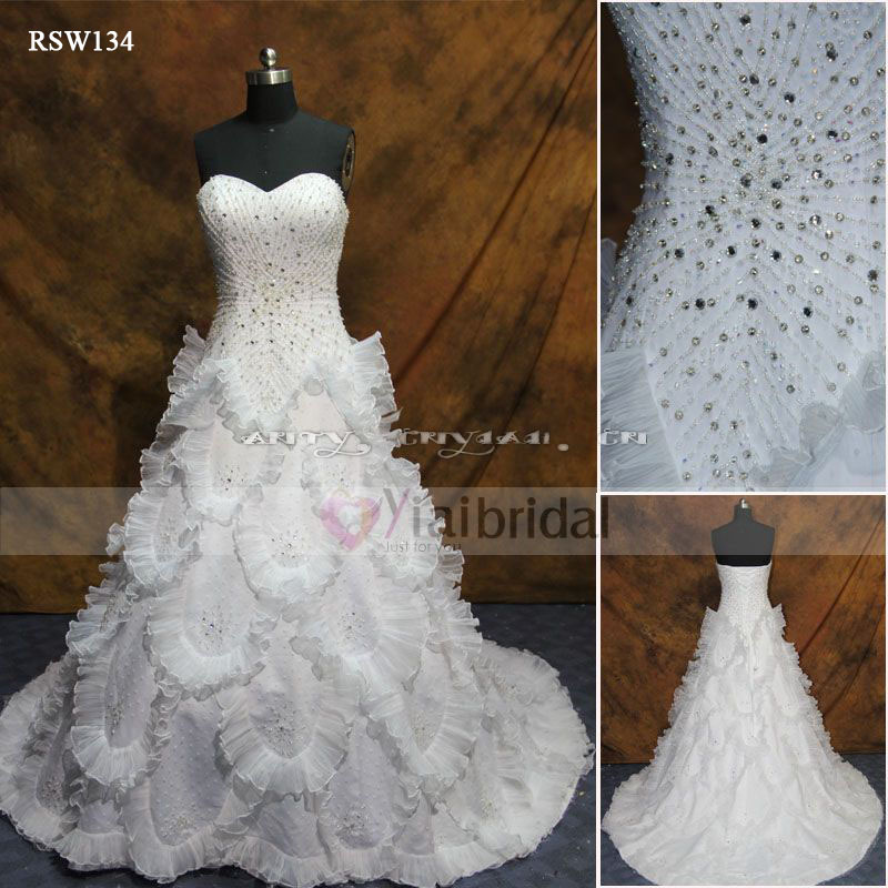 aliexpresscom buy rsw134 bling wedding dresses from