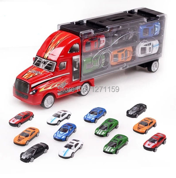 1Set = 13PCS alloy car 1:55 die cast car birthday gift sturdy ruggedness toy car free shipping(China (Mainland))