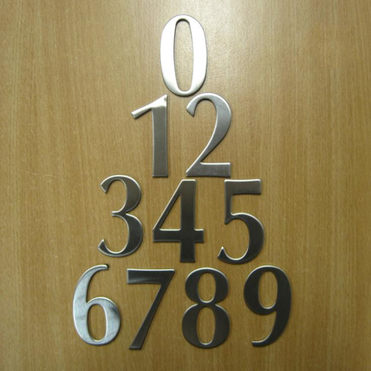 Stainless Steel Room Numbers Home Hotel House Number Plate Affixed to The Hotel Door 1 piece from 0-9 High Quality 62*35*19mm(China (Mainland))