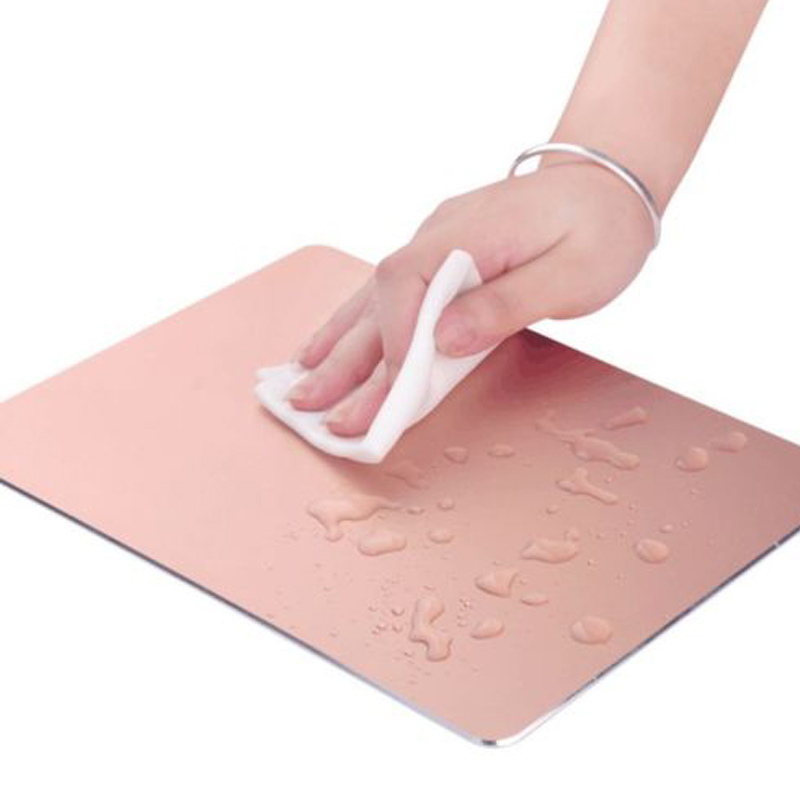 Aluminum alloy Pad with Non-Slip Rubber Bottom Mouse Pad anti slip Mousepad Gaming Mat Mouse with free gift tablet support(China (Mainland))