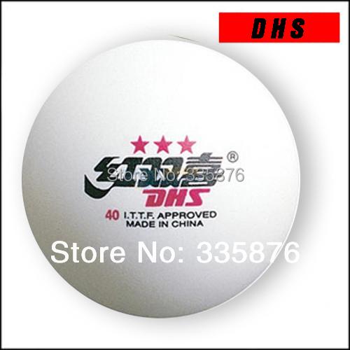 (30Pcs) 3 stars DHS 40MM Olympic Table Tennis White Ping Pong Balls Free Shipping(China (Mainland))