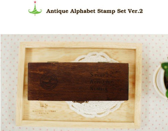 42 pcs/set Creative letters  numbers stamp gift box wooden stamp wooden box  stamping Vintage DIY Multi Purpose Stamps Set OL007