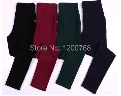 Elastic waist pants 2014 women autumn winter plus size high waist pants 4colors 3XL-6XL casual loose skinny pants free shipping(China (Mainland))